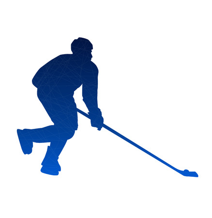 playoff: Abstract isolated hockey player