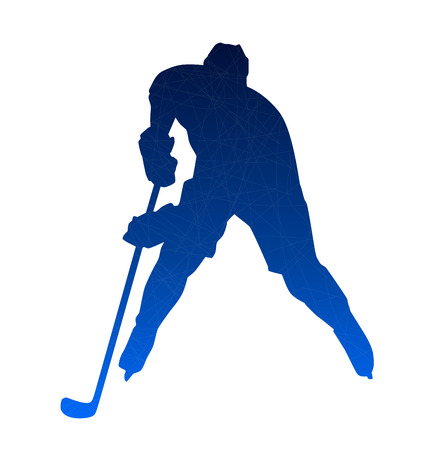 playoff: Abstract blue hockey player