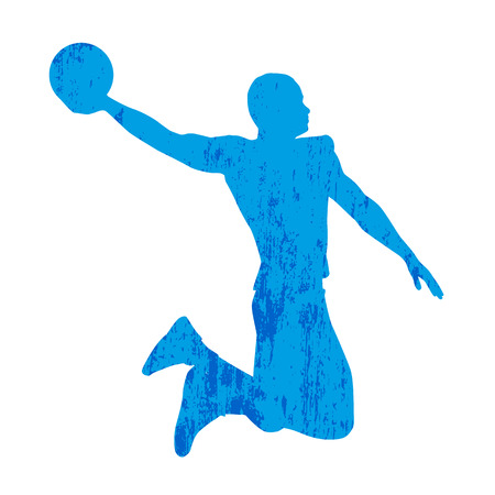 playoff: Abstract basketball player Illustration