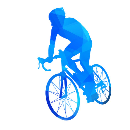 one wheel bike: Abstract vector cyclist