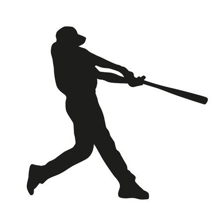 Baseball-Spieler. Vektor-Silhouette Standard-Bild - 36658131