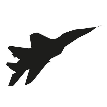 Jet plane. Vector silhouette