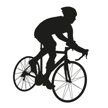 サイクリストのシルエット  イラスト・ベクター素材