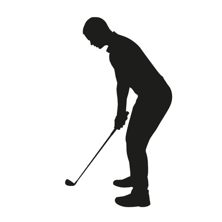 hole in one: Golfee isolated silhouette