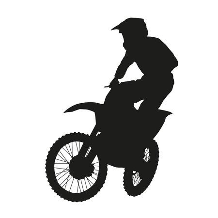 Motocross rider. Vector silhouette Illustration