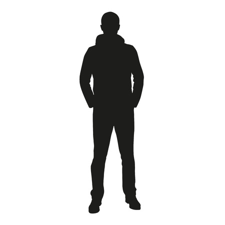 435 472 man silhouette stock vector illustration and royalty free rh 123rf com male silhouette vector free male silhouette vector free