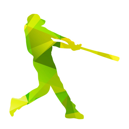 swing: Abstract baseball player silhouette