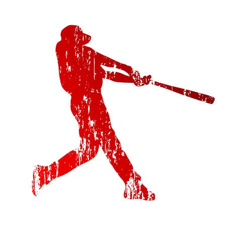 pelota de beisbol: Jugador de beisbol. Grunge Vectores