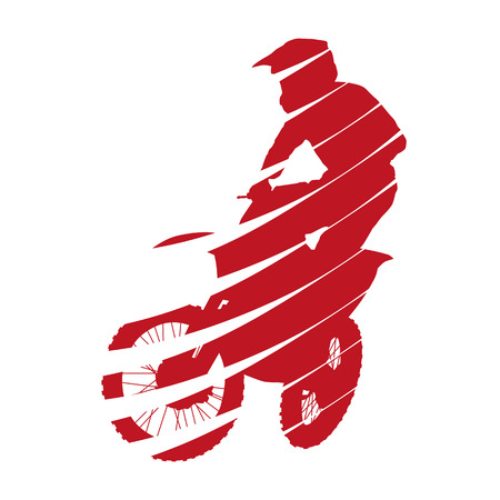 Abstract motocross rided Illustration