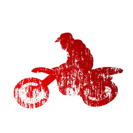 Motocross rider Illustration
