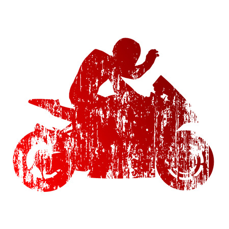 motorcycle rider: Motorcycle rider Illustration