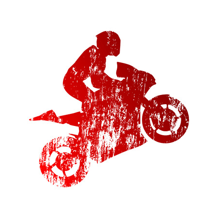 Abstract grungy motorcycle rider Vector