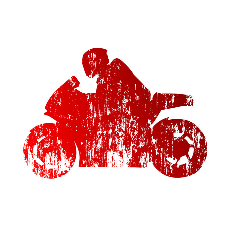 Road motorcycle racing Vector