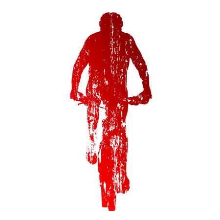 mountain biking: Abstract red mountain biking