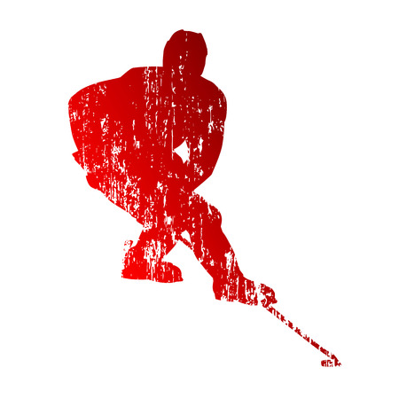 Grungy hockey player