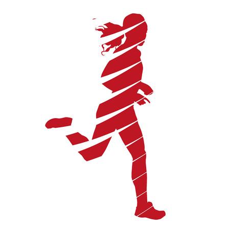 Abstract running woman Vector