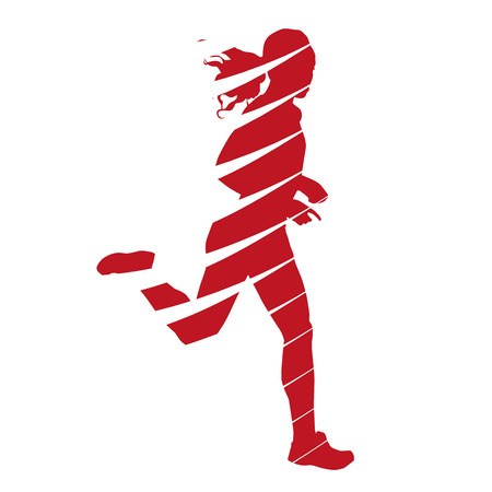 Abstract running woman Ilustracja