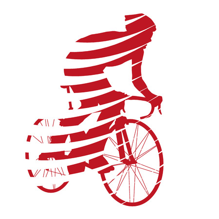 Abstract red vector cyclist