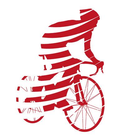 Vector ciclista rojo abstracto Foto de archivo - 37139745