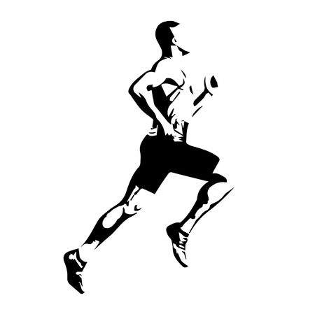 running silhouette: Vector runner