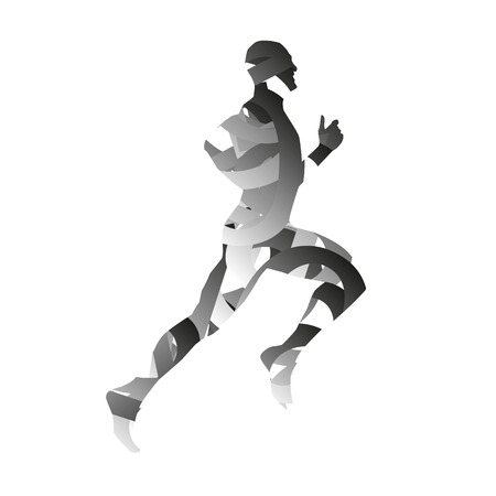 Abstract monochromatic runner Vector