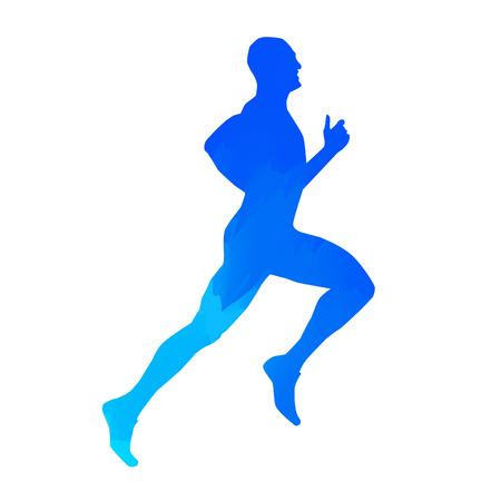 Run. Vector man silhouette Illustration