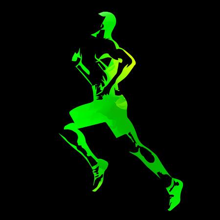 Abstract green vector runner Vector