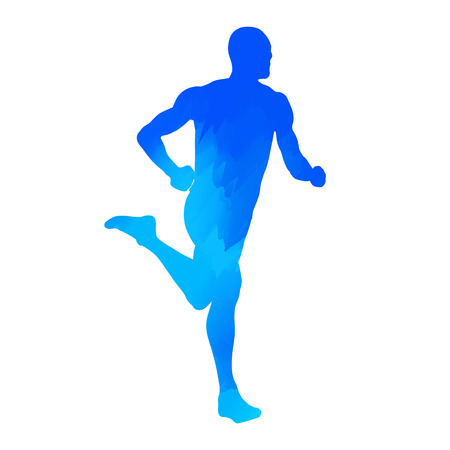 Abstract runner silhouette Vector