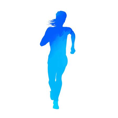 corriendo: Mujer que se ejecuta Vectores