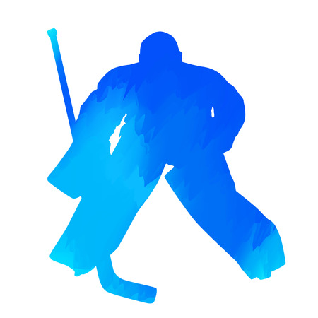 Ice hockey goalie Illustration