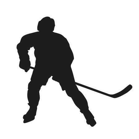 Ice hockey player silhouette Illustration