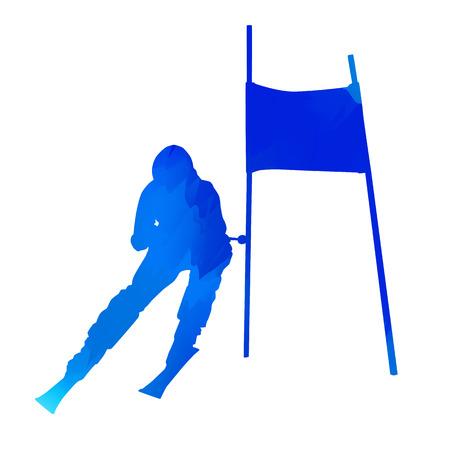 downhill: Vector downhill skier Illustration