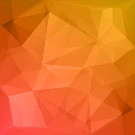 Résumé rouge et fond orange Vecteurs