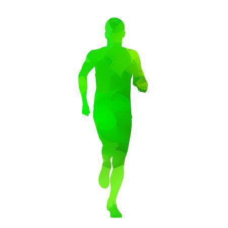 Running teenager Vector