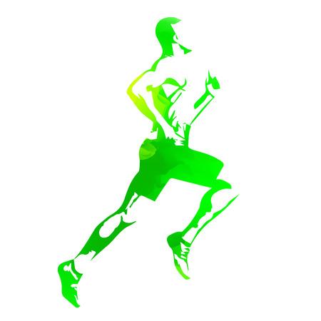 winner man: Running man Illustration
