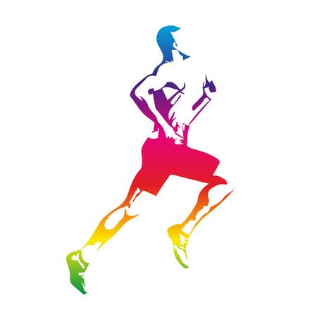 Colorful runner Stock Illustratie