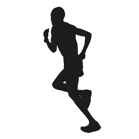 long distance: Marathon runner silhouette