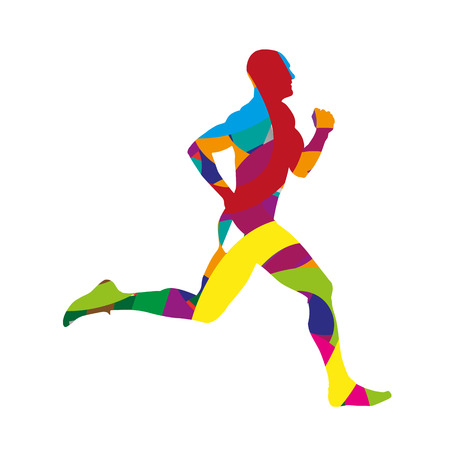 Abstract colorful runner Ilustrace
