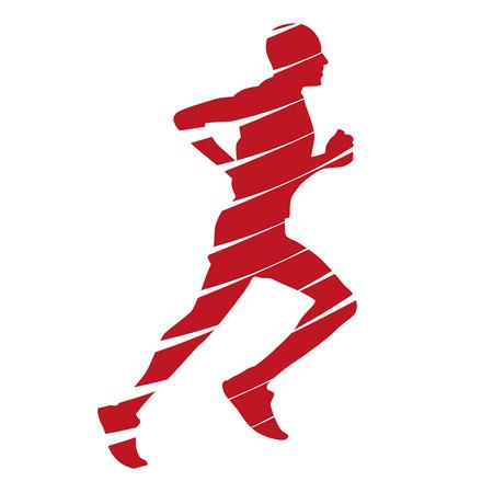Abstract red runner Stock Illustratie