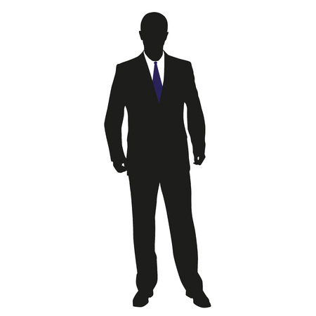 Man in suit. Vector illustration Vector
