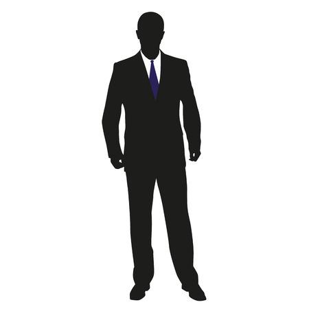 Man in suit. Vector illustration