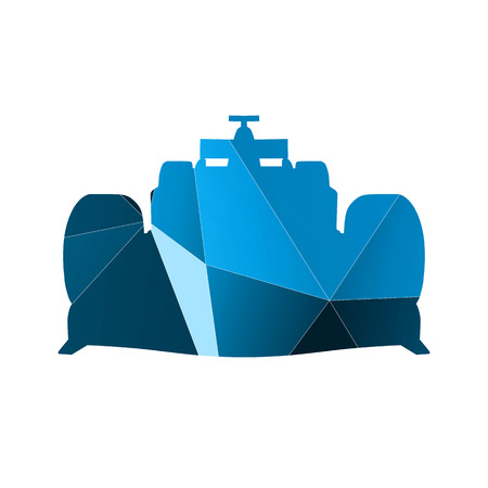formula car: Abstract blue formula car Illustration