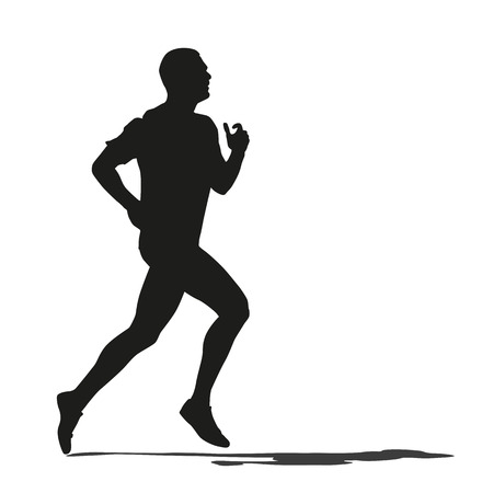 trail: Run. Vector silhouette Illustration