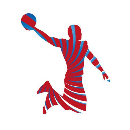 rebound: Basketball player silhouette