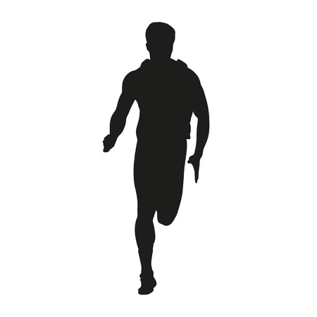 Vector running man silhouette