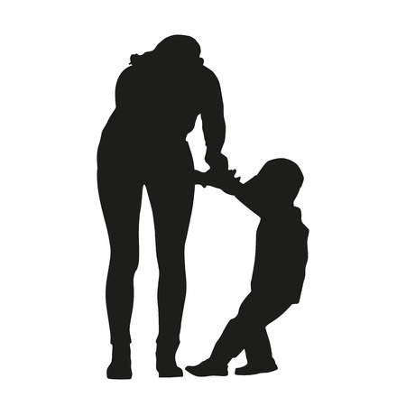 Mother is in a dispute with a child