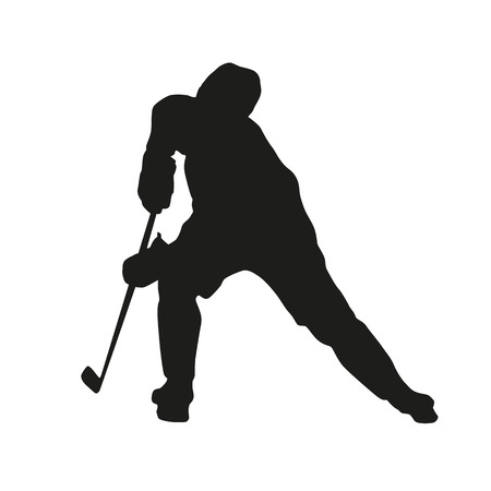 Hockey player vector silhouette