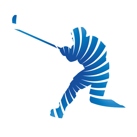 ice hockey player: Abstract vector ice hockey player