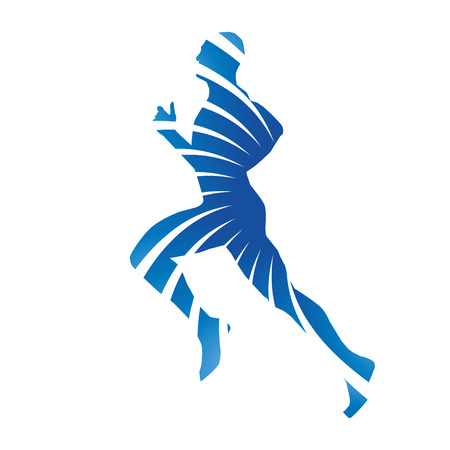 runners: Abstract blue vector runner