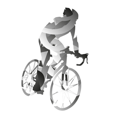 monochromatic: Abstract monochromatic vector cyclist